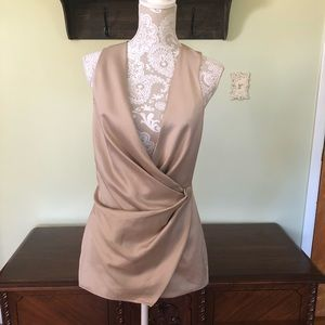 House of CB Angelo satin wrap romper